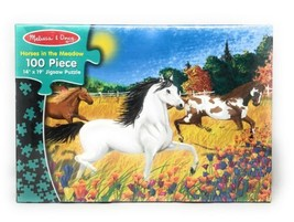 "MELISSA & DOUG Horses in the Meadow 100 Pc. Jigsaw Puzzle 14"" x 19"" New / Sealed - $16.79"