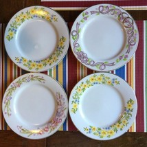 Set Of 4 Wilton Enterprises Dessert Plates Porcelain Floral Design Made ... - $19.79