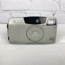 90's Vintage Canon Sure Shot 60 Zoom 35mm Film Camera Point And Shoot An... - $15.88