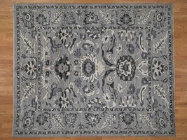 """8'2""""x9'10"""" Undyed Natural Wool Mahal Design HandKnotted Oriental Rug G41864 - $2,486.30"""