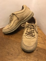 Rockport Men's Size 7.5 Beige Sand Nubuck Leather Shoes Style MWT13M - $20.00