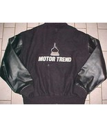 Motor Trend Cars Of The Year Black Embroidered Wool Leather Letterman Ja... - $173.25