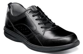Nunn Bush Kore Walk Moc Toe Oxford Shoes Black 84811-001 - $71.99