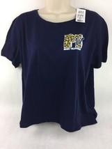 Viacom Women's MTV Blue Crop Shirt MTV Leopard Logo Size XXL - $14.01