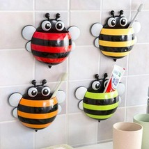 Bee Toothbrush Toothpaste Holder Wall Mount Rack Bathroom Organizer Suct... - $7.99