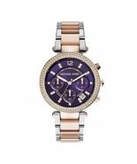 Michael Kors Parker Two-Tone Stainless Steel Bracelet Women's Watch MK6108 - £83.19 GBP