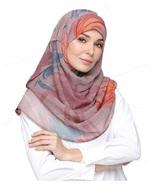 BOKITTA DULCET ROSE - PRINTED SMOOTH CHIFFON INSTANT HIJAB Muslim Scarf ... - $55.62+