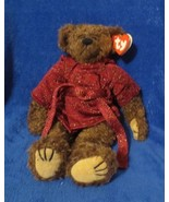 Ty Attic Treasues Tyrone Bear in Robe 1993 PVC Filled Gasport Error 7th ... - $24.74