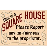 Square House Cheers Bar Metal Sign - $29.95