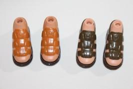 Bratz Barbie Boy Doll Shoes Lot of 2 Pair Sandals Feet Fits Eitan Dylan ... - $14.84