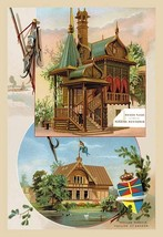 Russian Residence and the Pavilion of Sweden at the Paris Exhibition, 1889 - Art - $19.99+