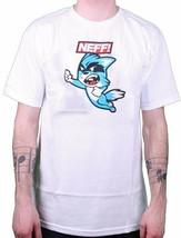 Neff Uomo Knockout Fox Bianco Grafico Tee Nwt