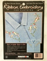 """Dimensions Cascading Roses Ribbon Embroidery for Clothing Kit - 5"""" x 6"""" ... - $9.45"""