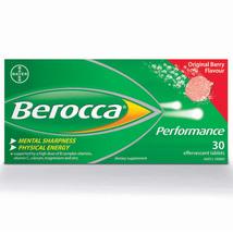 180 Tablets Berocca Performance Effervescent Berry Flavor NO Caffeine 6 ... - $139.95