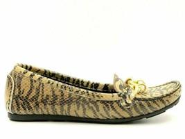 Stuart Weitzman Women Slip On Loafers Size US 5M Zebra Print Leather - $38.42