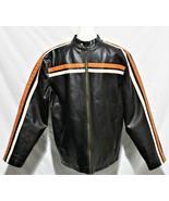 Whispering Smith UK Motorcycle Jacket Size 14/16 Faux Leather Brown Jacket - $24.74