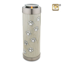 Pearl Colored Tall Tealight Funeral Pet Cremation Urn, 58 Cubic Inches - $88.50