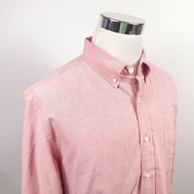 J Crew Mens LT Oxford Shirt Pink 100% Cotton Casual Button Down Regular ... - $24.95