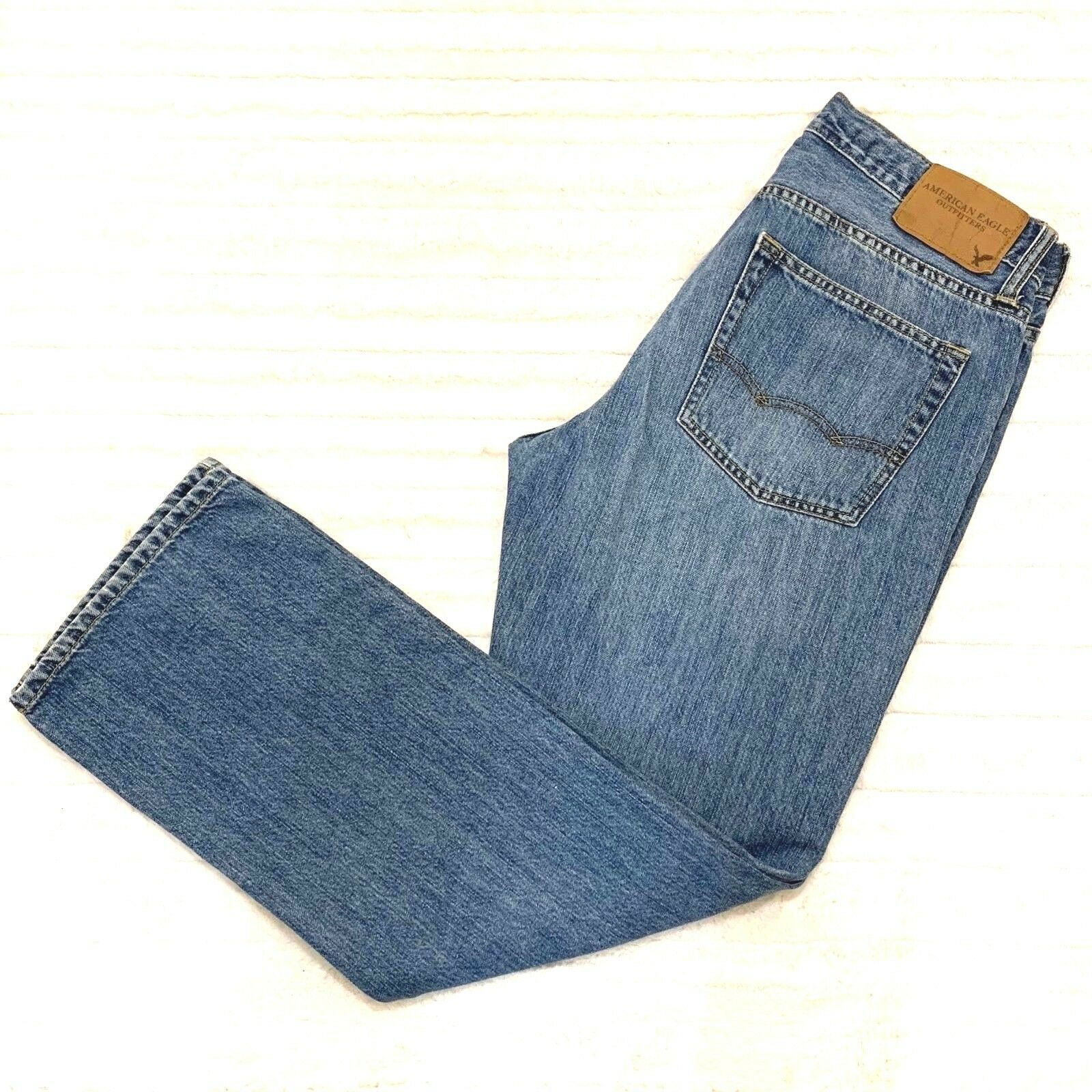 86b7814a American Eagle Mens Jeans Size 30 x 30 Original Straight Cotton Denim -  $21.84