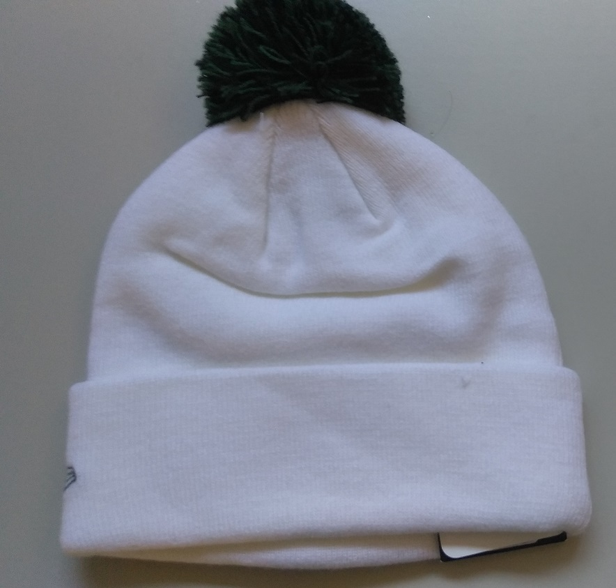 e87bb1e77 New Era NFL Unisex Beanie NEW YORK JETS White Green POM Football Beanie.  Next. 1