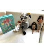 Vintage 1995 Disney's Sun Colors Kocoum & Pocahontas Barbie Ariel Bride ... - $89.74