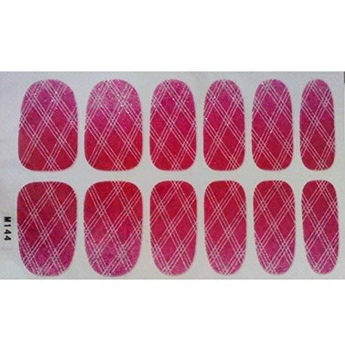 Primary image for Set of 6 Stylish Bright Gradient Glittery Nail Art Stickers, M144