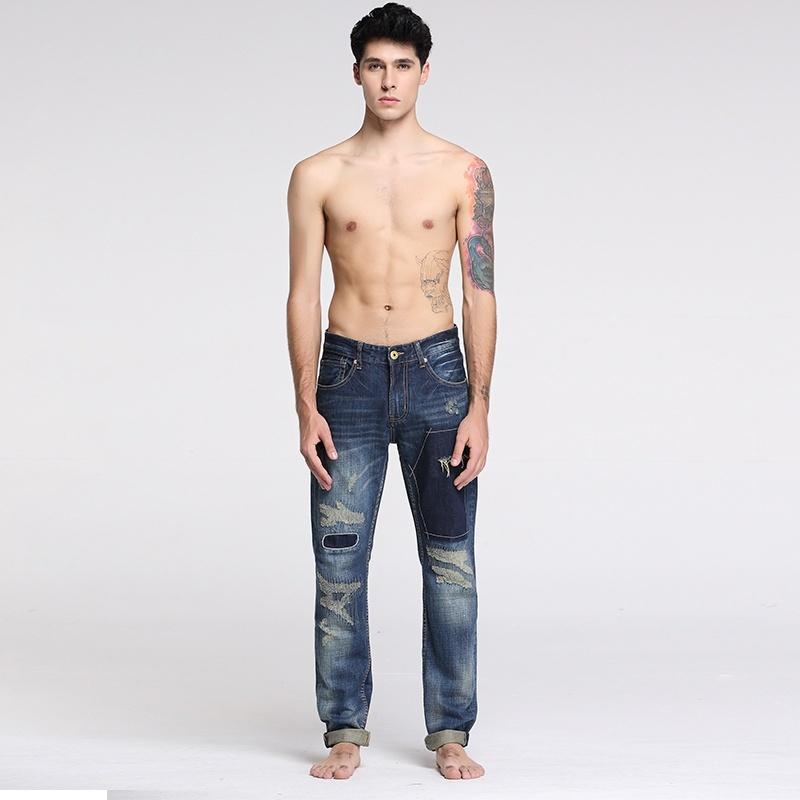 Sportsman fashion personality men's jeans image 2