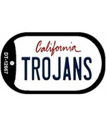 NCAA USC Trojans Dog Tag Necklace Metal Basketball California State So Cal - $14.80