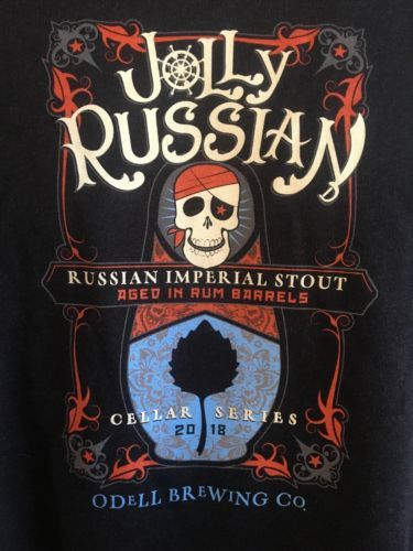 Primary image for Jolly Russian Odell Brewing Men's XL T-Shirt Cellar Series 2018 Imperial Stout