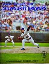 1988 - MLB - Milwaukee Brewers - Spring Training - Rare - Out of Print - $16.99