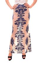 For Love & Lemons Women's Temecula Maxi Flower Skirt Blue Size S RRP $18... - $108.55