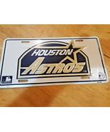 HOUSTON  ASTROS VINTAGE  METAL AUTO TAG LICENSE PLATE New sealed - $14.84
