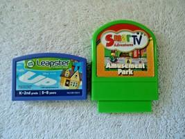 Lot Of 2 Video Game Cartridges,1,Leapster Up,1,SmarTV Adventures Amusement Park - $11.99