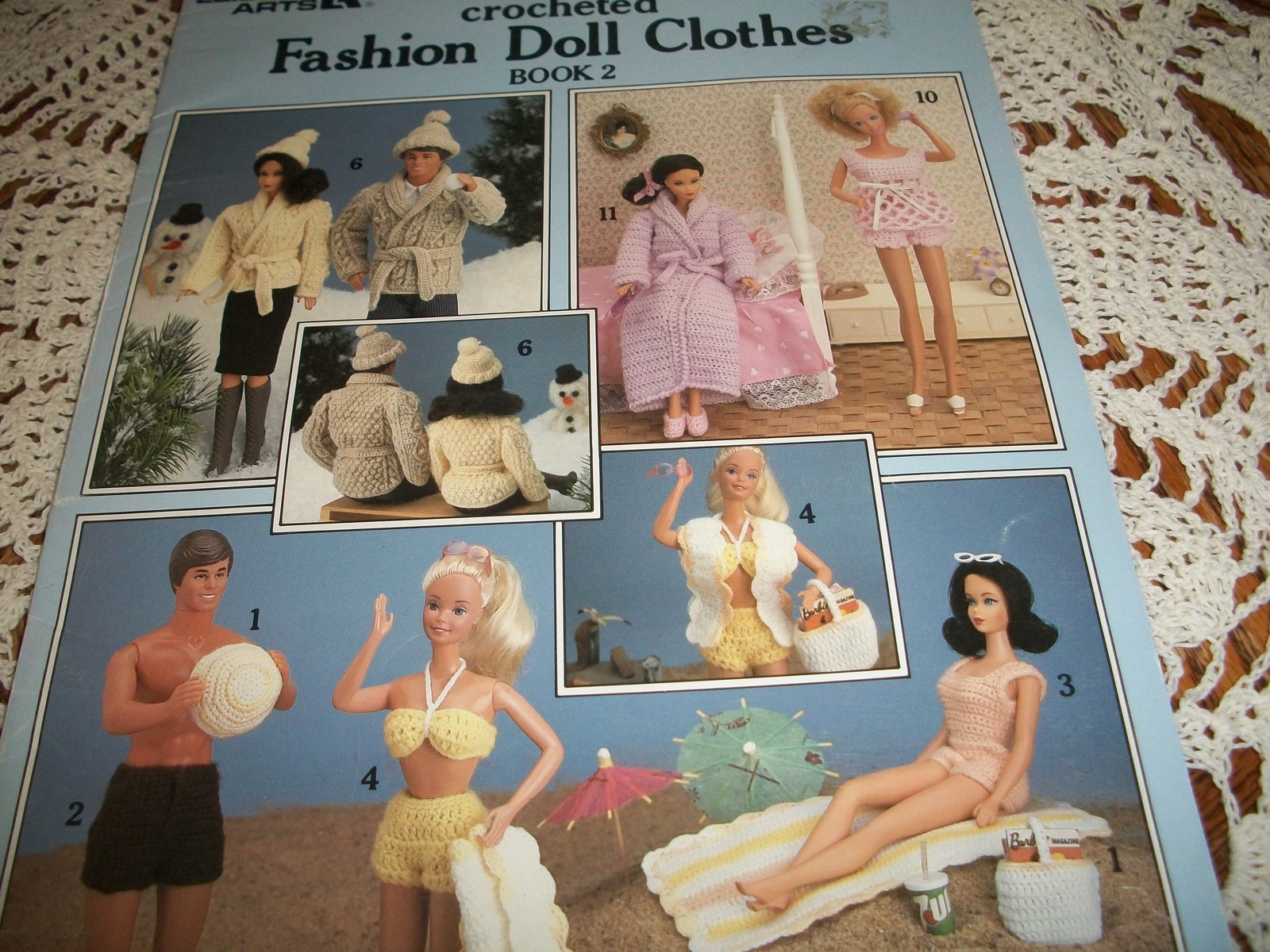Primary image for Crocheted Fashion Doll Clothes Book 2 Leaflet 437