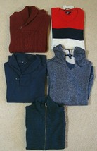 Lot of 5 Gap Men's Long Sleeve Sweaters, Jacket & Hoodie Variety Color &... - $33.65