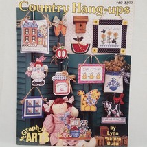 Country Hang Ups Cross Stitch Pattern Leaflet Book 60 Graph it Arts Coun... - $9.99