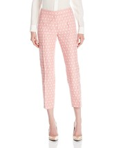 6040-2 Anne Klein Women's Dot Jacquard Slim Bowie Pant, Pink Shell Combo... - $35.16