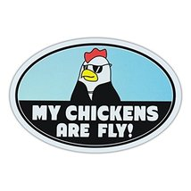 """Refrigerator Magnet - My Chickens Are Fly - Chicken Lover - 6"""" x 4"""" - €6,18 EUR"""