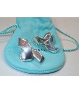 Vintage Tiffany & Co Sterling Silver Paloma Picasso Large Wave Pierced E... - $355.29