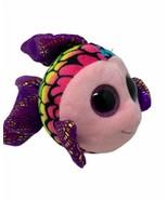 "TY Beanie Boos Flippy Multicolor Fish Plush Sparkle Fin Glitter Eyes 6"" Soft Toy - $8.99"