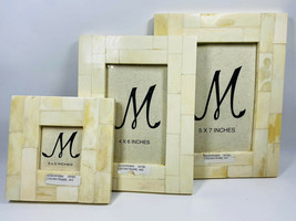 Set of 3 Manorisms Picture Frame - White 5x7, 4x6 and 3x3 - $49.49