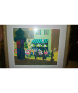 CAFE IN PARIS by GUSTAV LIKAN SIGNED ARTIST PROOF SERIGRAPH FROM 1978 - $1,485.00