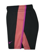 NIKE Girls' Dry 10K Athletics Running Shorts Black Coral Magenta Pink Size XS - $19.75