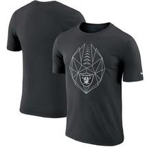 Oakland Raiders Mens Nike Football Icon Dri-Fit Cotton T-Shirt- XXL/XL/L... - $24.99