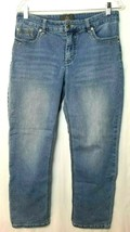 "Chicos So Lifting Slimming Crop Jeans Sz 1 (32"") Light Wash Blue Denim B... - $21.77"