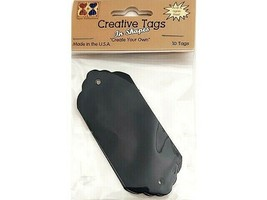 Creative Tags Large Nameplate Tag, Black Metallic #TAG03087