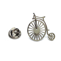 silver Penny Farthing Bike Cycle  pin badge lapel Badge / tie pin, Lapel Pin Bad