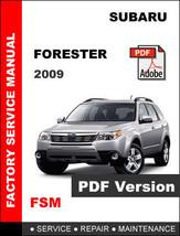 Subaru Forester 2009 Oem Service Repair Workshop Maintenance Factory Manual - $14.95