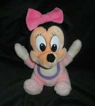 "11"" VINTAGE DISNEY WORLD BABY PINK MINNIE MOUSE STUFFED ANIMAL PLUSH TOY... - $26.18"