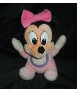 "11"" VINTAGE DISNEY WORLD BABY PINK MINNIE MOUSE STUFFED ANIMAL PLUSH TOY... - $26.18"